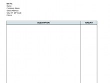 21 Free Printable Blank Consulting Invoice Template Layouts by Blank Consulting Invoice Template