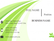 21 Free Printable Business Card Template Green in Photoshop with Business Card Template Green