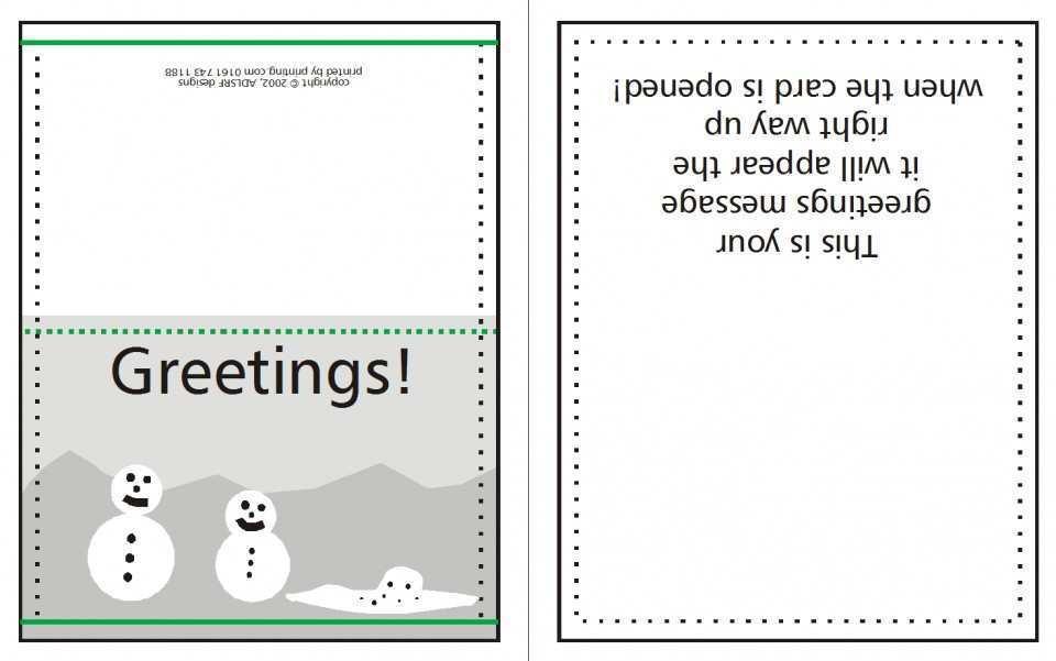 21 Free Printable Christmas Card Template Quarter Fold Formating with Christmas Card Template Quarter Fold