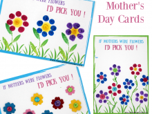 21 Free Printable Mothers Day Card Template Flower Layouts with Mothers Day Card Template Flower
