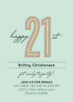 21 Printable 21St Birthday Card Template Free For Free with 21St Birthday Card Template Free