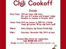 21 Printable Chili Cook Off Flyer Template For Free with Chili Cook Off Flyer Template