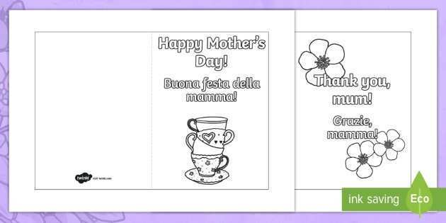 21 Printable Mother S Day Card Templates To Colour PSD File for Mother S Day Card Templates To Colour