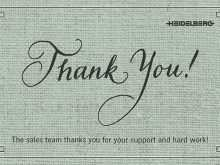21 Printable Thank You For Your Support Card Template in Photoshop with Thank You For Your Support Card Template