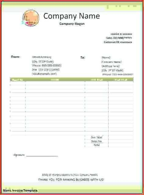 21 Standard Blank Invoice Format In Excel Maker by Blank Invoice Format In Excel