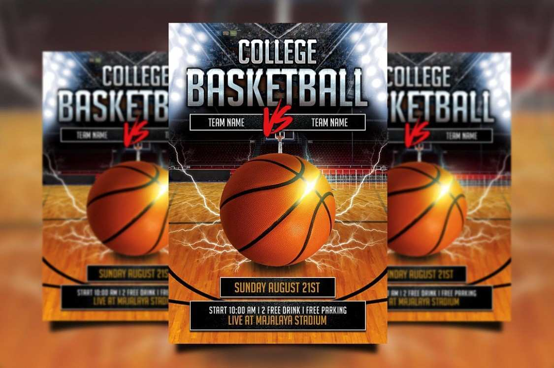 21 The Best Basketball Flyer Template Free With Stunning Design with Basketball Flyer Template Free