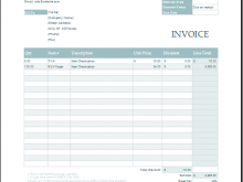 21 The Best Contractor Weekly Invoice Template for Ms Word with Contractor Weekly Invoice Template