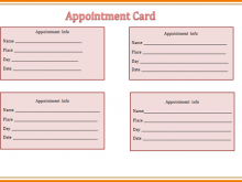 22 Adding Appointment Card Template For Word Download by Appointment Card Template For Word