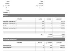 22 Adding Garage Invoice Template Pdf PSD File for Garage Invoice Template Pdf