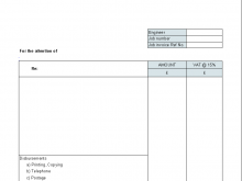 Blank Template Of Invoice