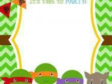Ninja Turtle Thank You Card Template