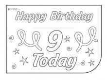 22 Create 9 Year Old Birthday Card Template Templates by 9 Year Old Birthday Card Template