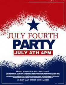 22 Creating 4Th Of July Party Flyer Templates in Word with 4Th Of July Party Flyer Templates