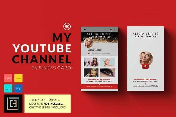 22 Creating Business Card Template For Youtube For Free by Business Card Template For Youtube