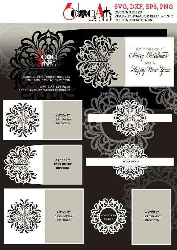22 Creative Christmas Card Templates For Cricut Layouts for Christmas Card Templates For Cricut