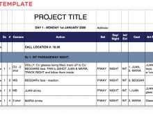 22 Creative Production Plan Film Template Layouts by Production Plan Film Template