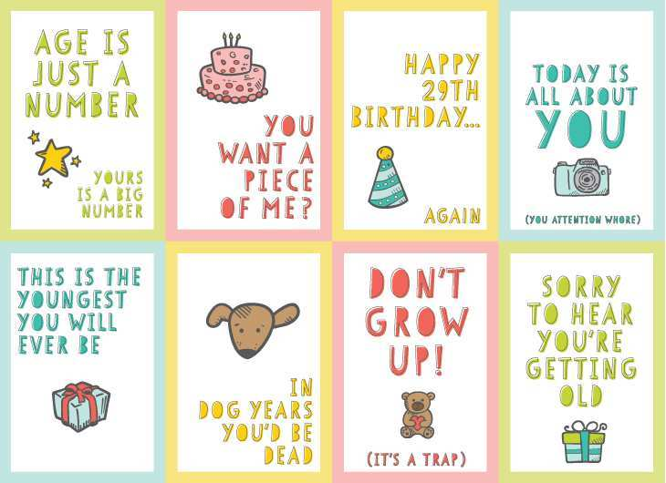 22 Creative Rude Birthday Card Template in Photoshop for Rude Birthday Card Template