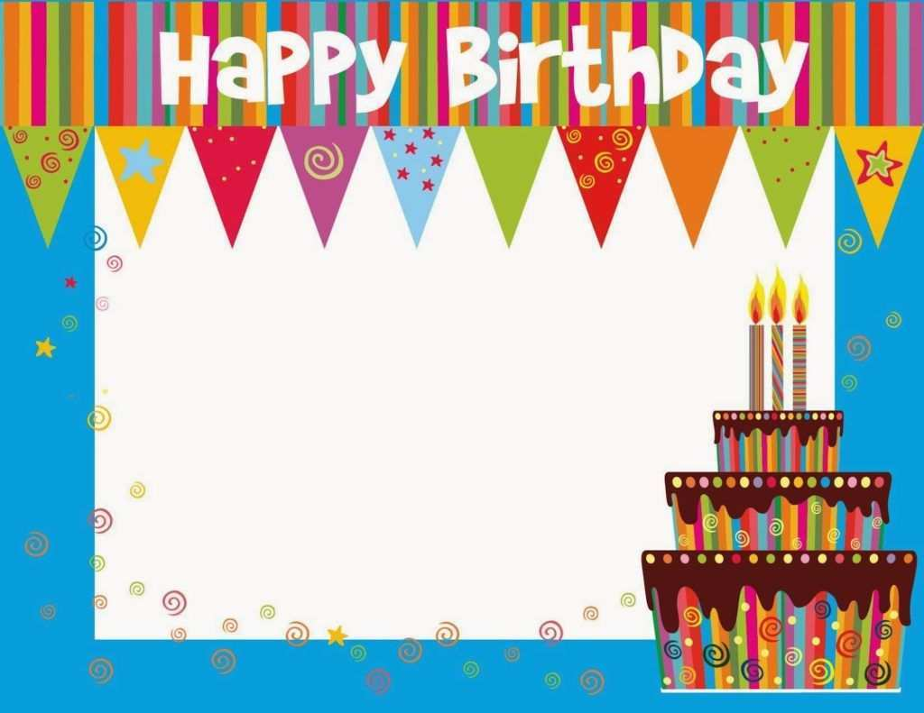 22 Customize Our Free Birthday Card Templates To Print Formating by Birthday Card Templates To Print