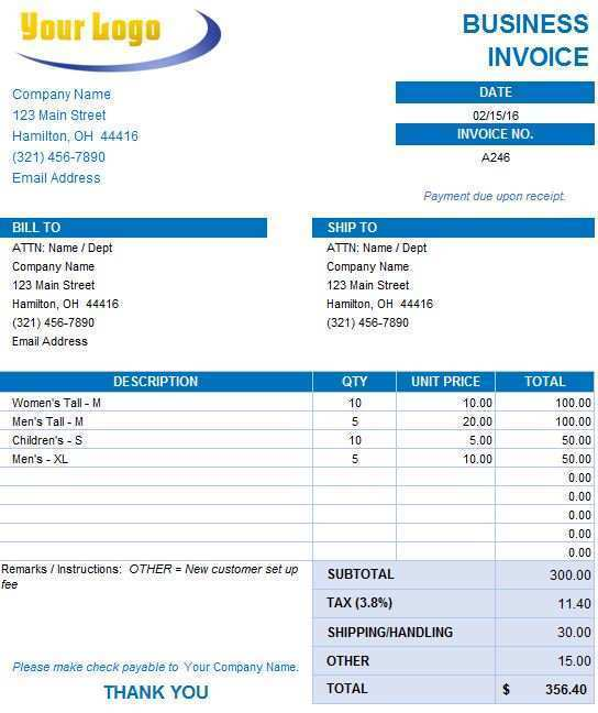 22 Format Company Invoice Format In Excel Now by Company Invoice Format In Excel