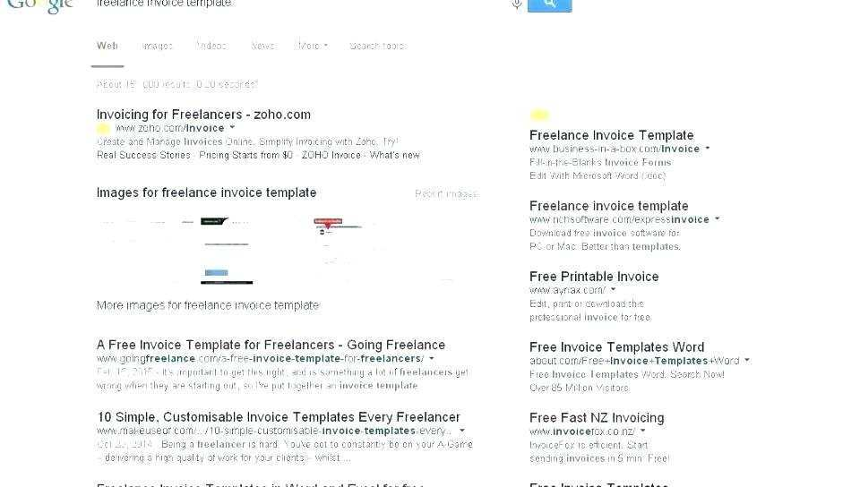 Freelance Invoice Template Mac Cards Design Templates
