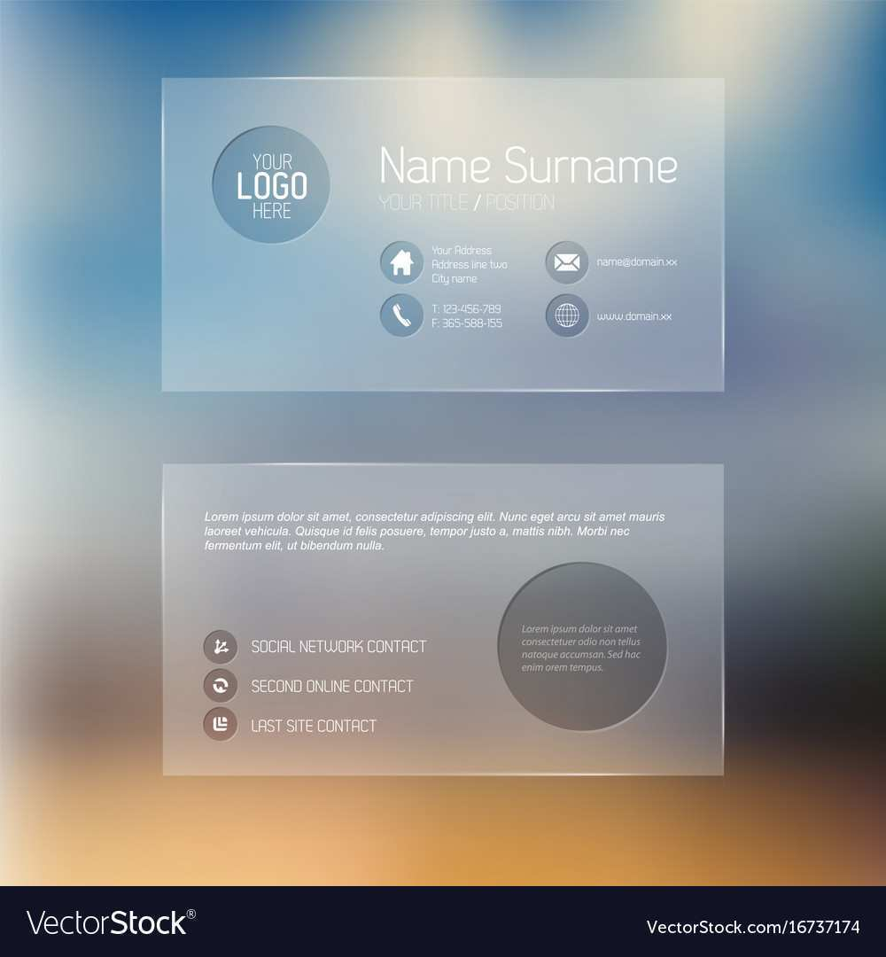 21 Format Transparent Business Card Template Free Download in In Transparent Business Cards Template