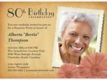 80Th Birthday Card Template