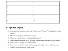 22 Free Printable Agenda Family Meeting Template For Free for Agenda Family Meeting Template