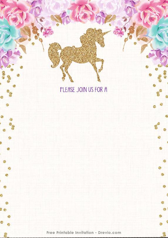 22 Free Printable Invitation Card Template Unicorn Maker for Invitation Card Template Unicorn