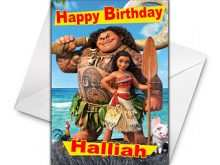Moana Birthday Card Template
