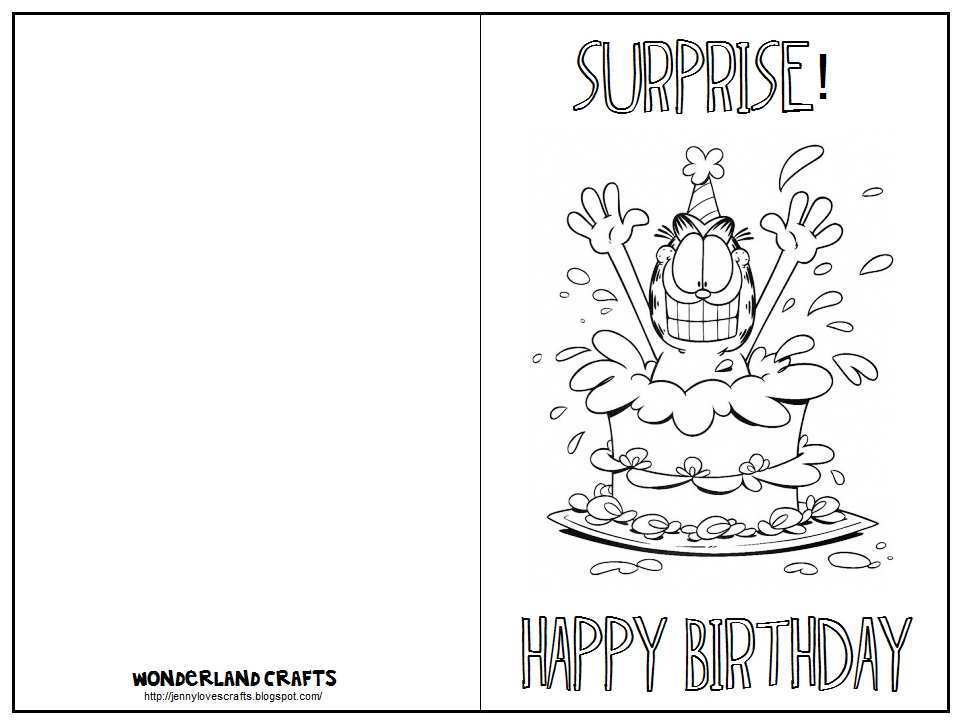 22 free printable print a birthday card template in