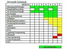 Production Schedule Template Pdf