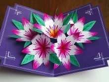 Flower Pop Up Card Templates Peter Dahmen