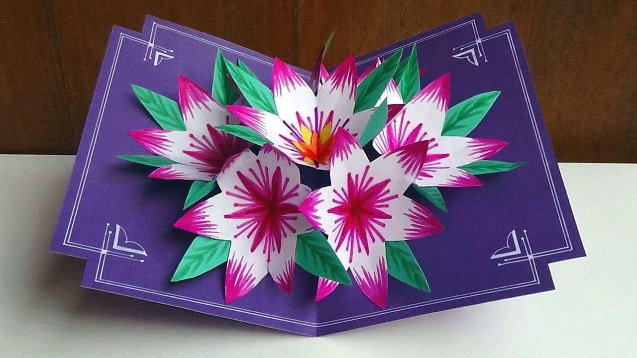 Flower Pop Up Card Templates Peter Dahmen - Cards Design ...