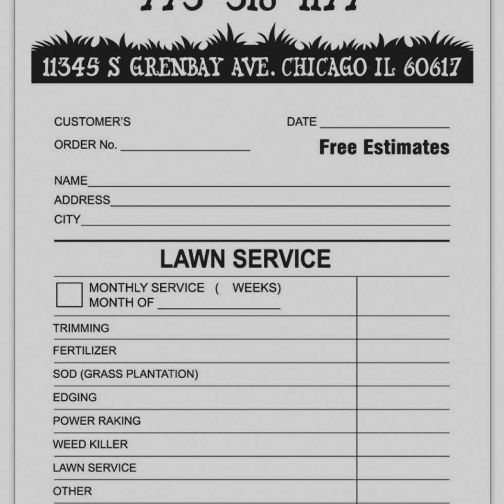 22 How To Create Lawn Care Invoice Template With Stunning Design For Lawn Care Invoice Template Cards Design Templates