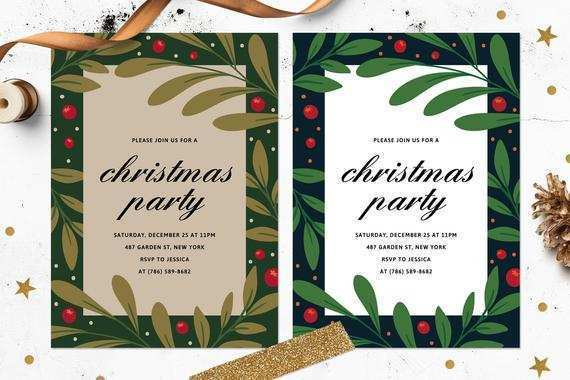 22 Online Christmas Card Templates Etsy Download with Christmas Card Templates Etsy
