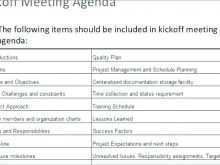 Kick Off Meeting Agenda Template Ppt