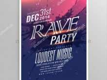 22 Report Rave Flyer Templates PSD File with Rave Flyer Templates