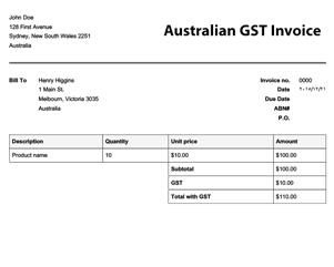 22 Standard Australian Tax Invoice Template No Gst Maker for Australian Tax Invoice Template No Gst