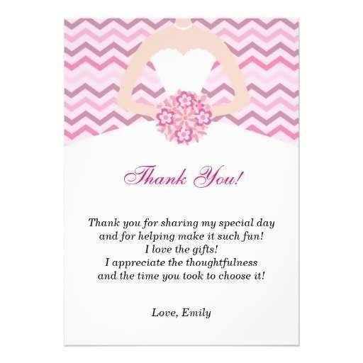 22 Standard Bridal Shower Thank You Card Templates Formating with Bridal Shower Thank You Card Templates