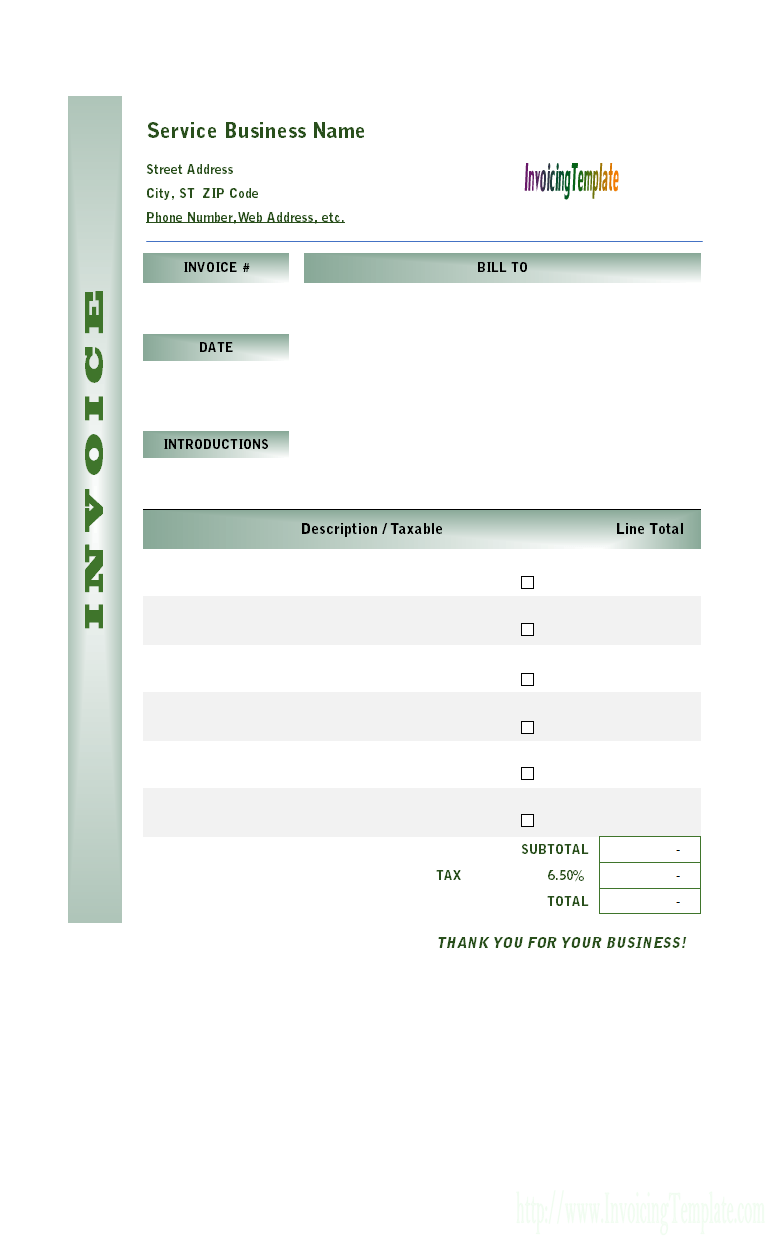 22 The Best Blank Labor Invoice Template For Free with Blank Labor Invoice Template