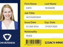 Id Card Template Jpg