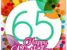 23 Best 65Th Birthday Card Template Templates with 65Th Birthday Card Template