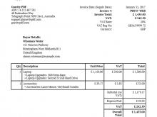 Invoice Example Pdf