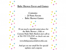 23 Creative Baby Shower Agenda Example For Free for Baby Shower Agenda Example