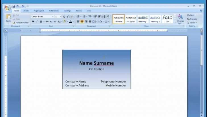 23 Creative Business Card Template Microsoft Word 2013 for Ms Word by Business Card Template Microsoft Word 2013