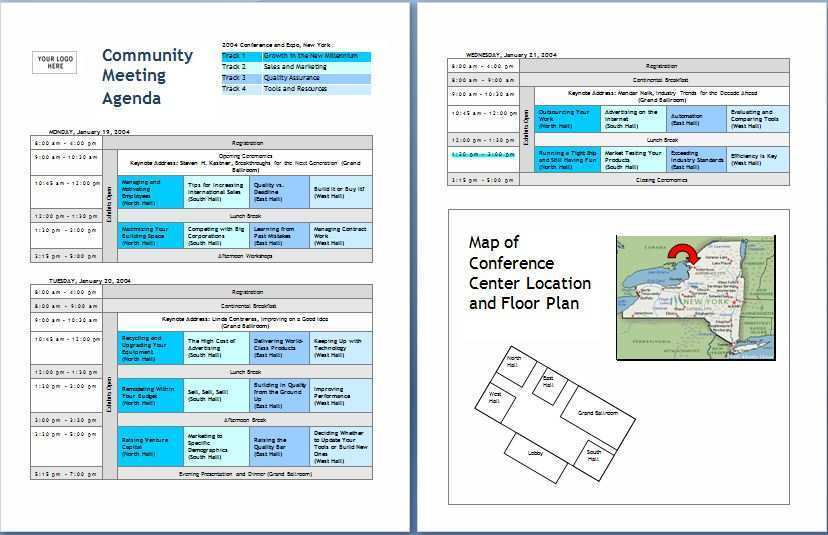 23 Creative Conference Agenda Template Word Layouts for Conference Agenda Template Word