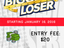 23 Customize Biggest Loser Flyer Template For Free for Biggest Loser Flyer Template