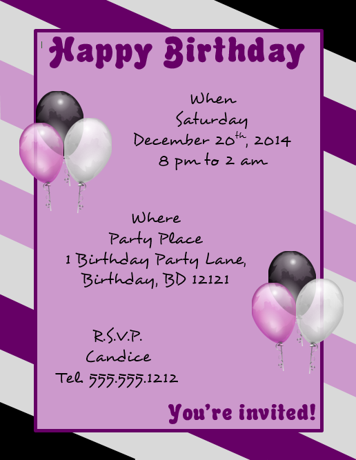23 Customize Free Birthday Flyer Template Word in Photoshop by Free Birthday Flyer Template Word