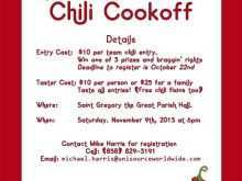 23 Format Chili Cook Off Flyer Template Free Now by Chili Cook Off Flyer Template Free
