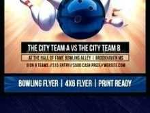 Bowling Flyer Template Word